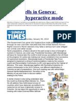 Alarm Bells in Geneva Govt in Hyperactive Mode