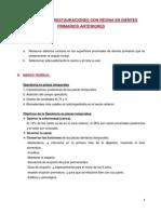 PRÁCTICA Nº9 RESTAURACIONES CON RESINA EN DIENTES PRIMARIOS ANTERIORES