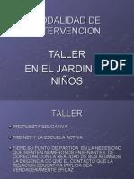 EL TALLER EN EL JARDÍN DE NIÑOS (MODALIDAD)