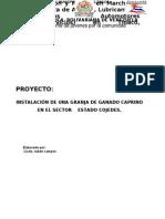 Proyecto Caprino Licdo Ruben Campos