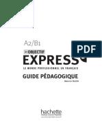 Objectif Express 2. Guide Pedagogique