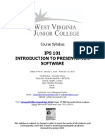 ips 101 syllabus winter a wvjc