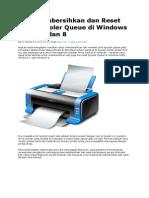 Cara Membersihkan Dan Reset Print Spooler Queue Di Windows Vista