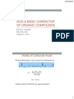 Acid and Basic Character of Organic Compounds