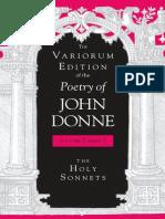 Donne, John - Holy Sonnets (Indiana, 2005)