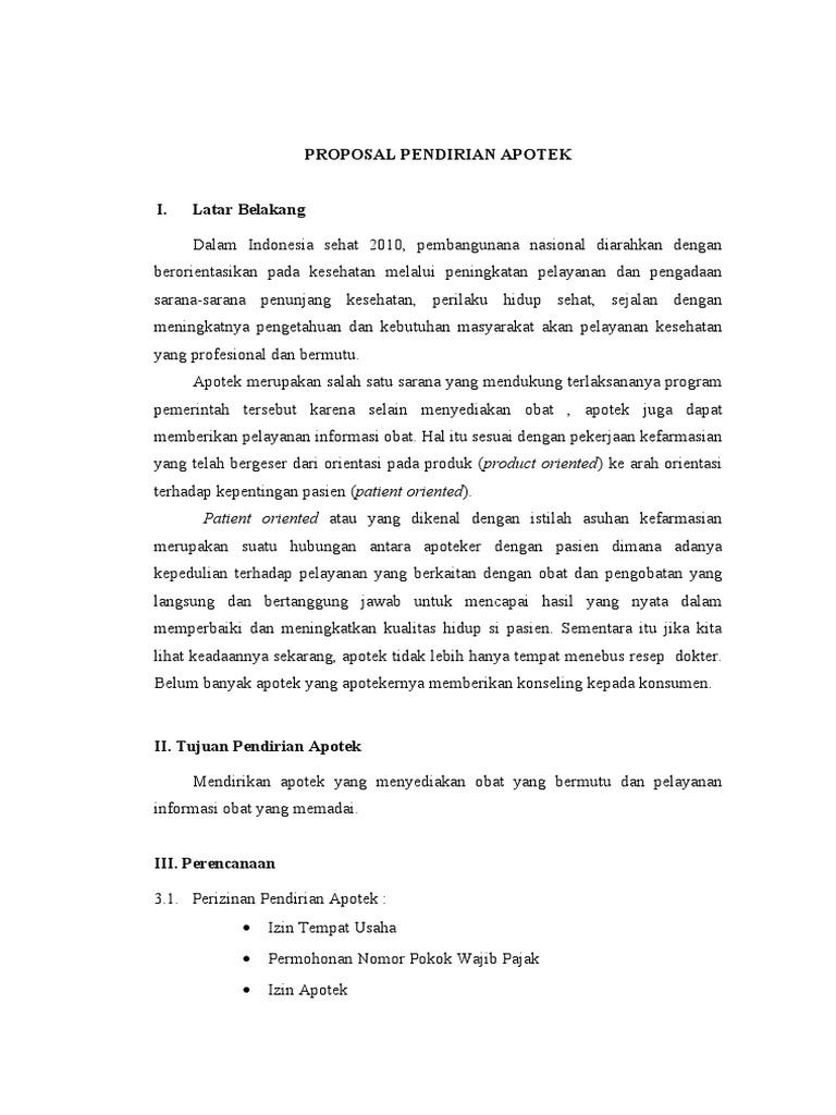 Proposal Pendirian Apotek Epub