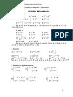 Taller de Ecuaciones Exponenciales y Logaritmicas