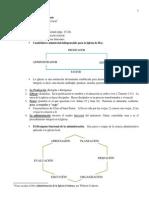 La administración en la Iglesia Cristiana, Felipe Calderon-hoja de clase.