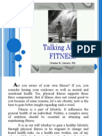 TALKING ABOUT FITNESS by Chedan B. Ceriaco, RN