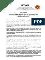 "PressRelease-2014-""Increasing RM500,000 Limit Does Not Improve Education Standards - Jeffrey"" - 04 January 2014"