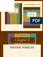 Strategic Management Internal Analysis