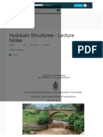 Chapter 1; Hydraulic Structures for Hydraulic Structures - Lecture Notes