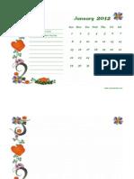 2012 Monthly Calendar Landscape 02