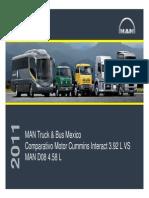 Comparativo Motor Cummins vs MAN PDF