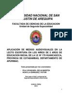 Tesis Unsa Segunda Especialidad Sede Cusco