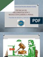 TÉCNICAS DE ARGUMENTACIÓN Y REDACCIÓN JURÍDICA PENAL