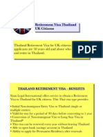 Retirement Visa Thailand (UK Citizens)
