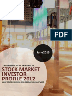 Philippine Stock Market Investor Profile 2012