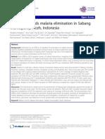 Malaria Elimination Sabang_2013