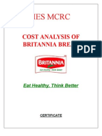 Cost Analysis of Britania Bread