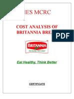 Cost Analysis of Britania Bread