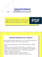 Marriage Visa Thailand (US Citizens)