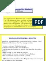 Business Visa Thailand (UK Citizens)