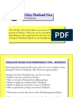 90-Day Thailand Visa (US Citizens)