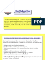 1 Year Thailand Visa (Canadian Citizens)