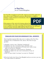 1 Year Thai Visa Citizens of United Kingdom