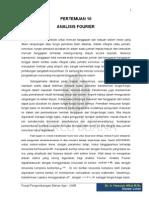 Pertemuan 10 Analisis Fourier