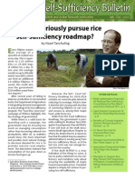 Rice Road Map - Rice Sufficiency Bulletin