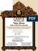 Menu @ Ganesh Indian Cuisine, American Fork