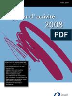 INCA rapport d'activité 2008