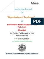 Project Absenteeism of Employees