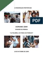 Dossier Prensa Domund 2009