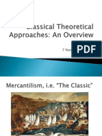 Classical Theoretical Approaches