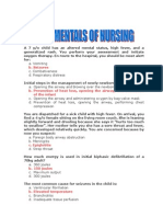 Fundamentals of Nursing III