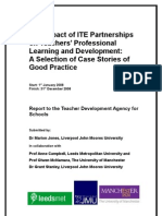 Impact of ITE Partnership Project Report