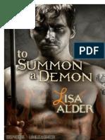 To Summon a Demon - Alder, Lisa