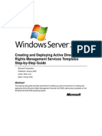 Creating and Deploying Active Directory Rights Management Services Templates Step-By-Step Guide