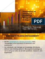 creating of knowledge mgmt system in organisation.