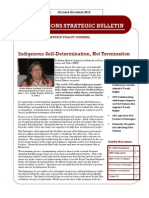 FIRST NATIONS STRATEGIC BULLETIN  Oct-Dec 2013