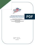Standard Specs for Racquetball Court Construction Rev 09