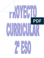 PROYECTO CURRICULAR 2º ESO
