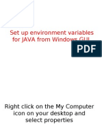 Set Up Environment Variables for JAVA From Windows