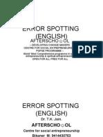 Error Spotting