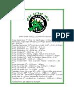 Spirit Shop Schedule b 2009-2010