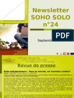 Newsletter Soho Solo n24 Septembre09