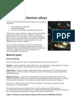 Titanium&Titanium Alloys